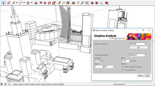 Shadow Analysis for SketchUp - User Interface